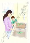 Серия иллюстраций для каталога эксклюзивных кухонных моек