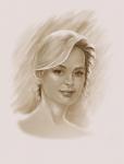 девушка портрет -планшет