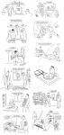 Серия рисунков в бухгалтерский журнал