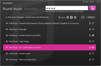 EasyMp3Search. Выполнено в стиле Metro UI.