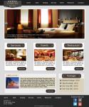вёрстка макета Hotel Layout со встроенным слайдером