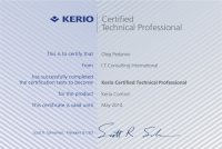 Kerio Control Certified Technical Professional