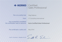 Kerio Certified Sales Professional