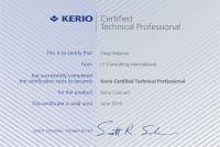 Kerio Connect Certified Technical Professional