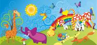 Баннер на сцену для детского праздника