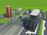 Моделирование жилого и административного зданий