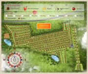 Карта генплан поселка, с формой бронирования участков