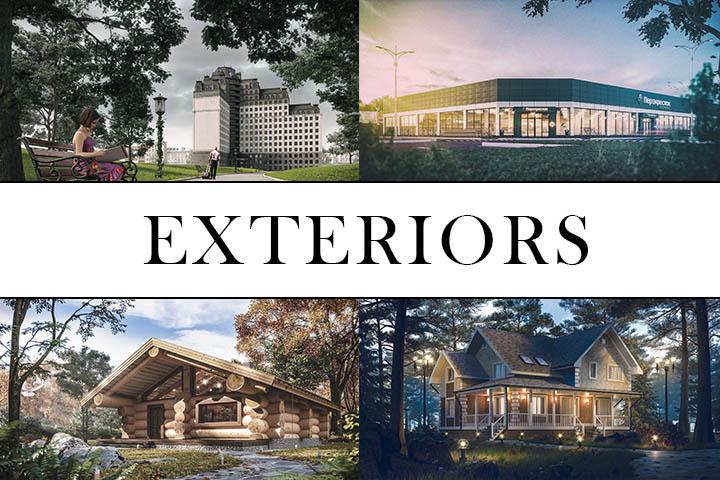Архитектурная визуализация экстерьеров и окружения