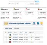 Компонент продажи SIM-карт