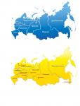Отрисовка карты России по округам