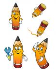 разнообразные позиции персонажа Лео