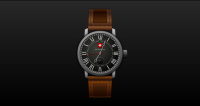 time of Swiss watches vector