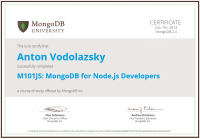 MongoDB NodeJS Developer