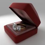Кольцо в коробочке. Визуализация 3D.
