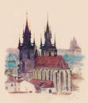 Городской пейзаж. Прага.
