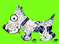 Газетная собачка