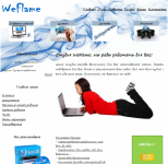 Дизайн сайта студии WeFlame