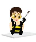 Пчелка-художник - моя аватарка