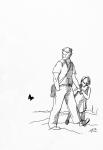Иллюстрация к рассказу А. Гайдара «Голубая чашка»