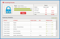 Koox System Optimizer - Окно сканирования