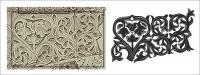 Обрисовка в вектор орнаментов