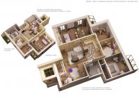 3-d схема двухуровневая квартира