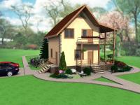 Проект двухэтажного дома 110 м2