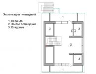 Проект дома 3, план второго этажа