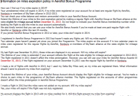 Aeroflot перевод на англ. FAQ по сгоранию миль Аэрофлот Бонус