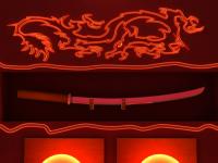 Неоновый дракон и меч