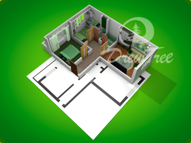2x комнатная квартира