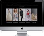 Сайт-каталог сети свадебных салонов