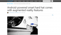 Android-Powered Smart Hard Hat Comes with Augmented Reality Feat