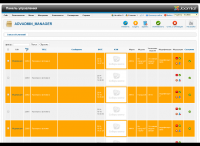 Панель управления объявлениями в админке Joomla 2.5