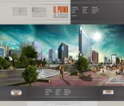 Сайт дизайн студии с паралакс эфектом MODx