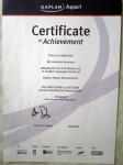 Сертификат языковой школы, уровень английского advanced