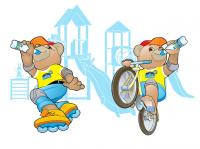 Персонаж для детской воды Спортик