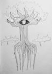 Рисунок пером на бумаге
