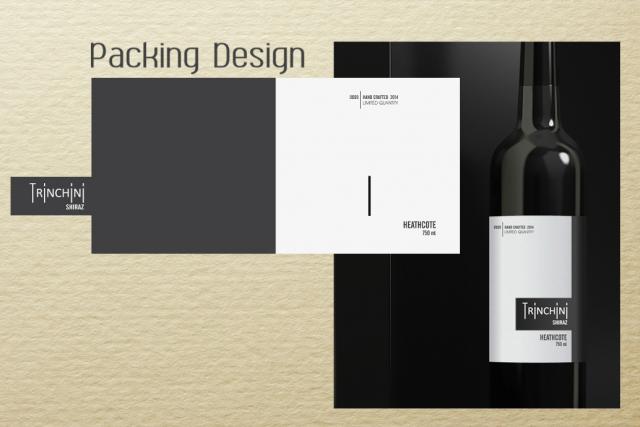 Дизайн логотипа и этикетки для вина