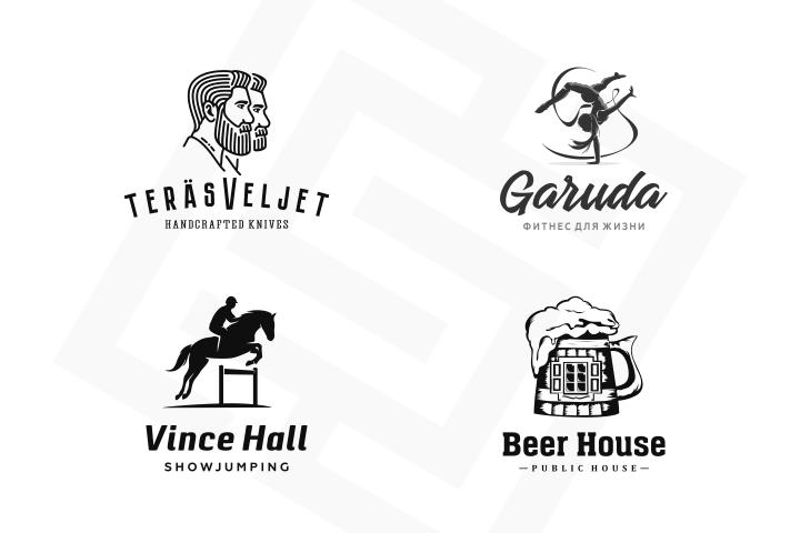 Логотипы монохромные