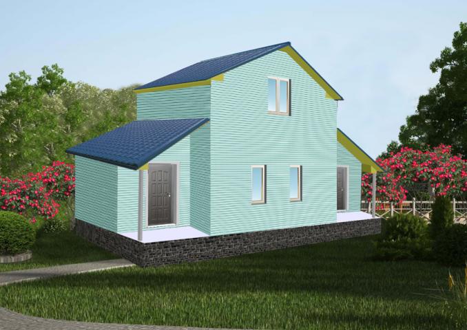 3Д визуализация жилого дома6