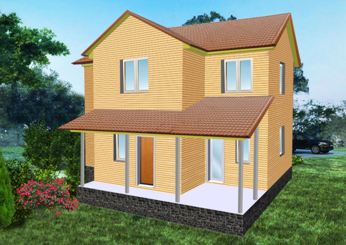 3Д визуализация жилого дома5