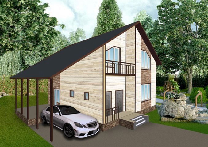 3Д визуализация жилого дома3