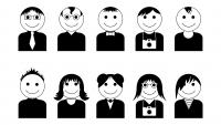 Иконки, аватарки людей с разным типом внешности