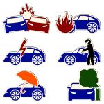Набор иконок страхования авто