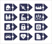 Набор страховых иконок-маркеров