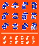 Набор страховых иконок-стикеров