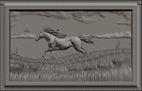 Конь в поле (ЧПУ пано)