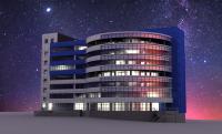 3d модель здания Лисиха 1