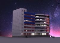 3D модель здания Лисиха 2